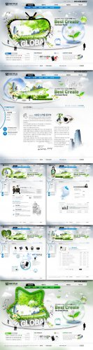 Global Internet PSD Web Templates