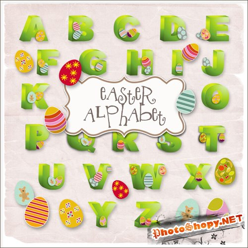 Scrap-kit - Easter Alphabet