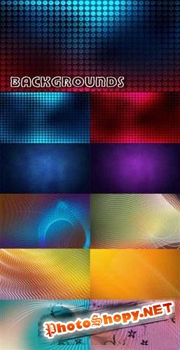 Varicoloured abstract backgrounds - 2