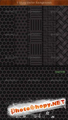 GraphicRiver - 5 Sharp Vector Background Textures
