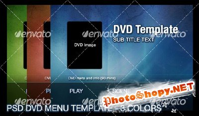 3 Color DVD Menu Template - GraphicRiver