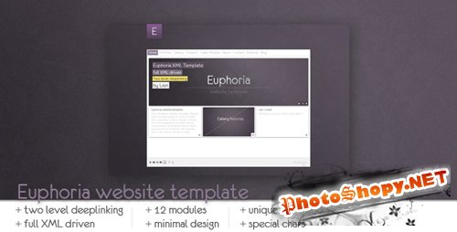 ActiveDen - Euphoria Website Template (Incl FLA) - Rip