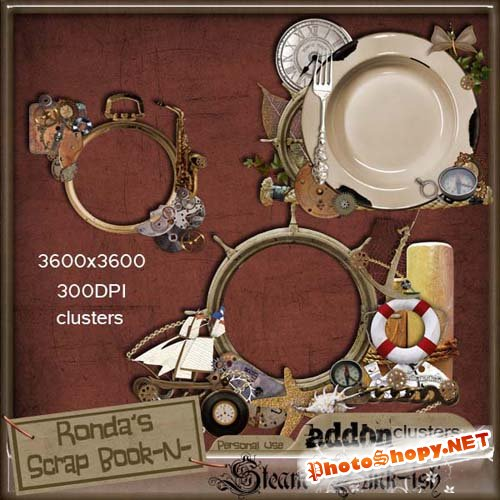 Scrap-kit - Ronda Steampunkish Addon Clusters 2