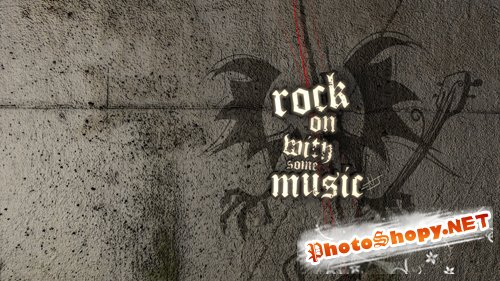 rock on with some music PSD