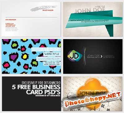 5 Creative  Business card