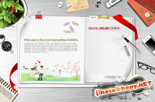 Bookmark Desktop - expanded notebook psd