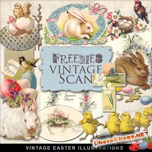 Scrap-kit - Vintage Easter Illustrations #6