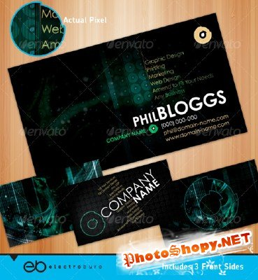Dark Generic Business Card – GraphicRiver