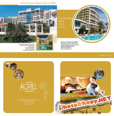 The brochure for the hotel or recreational complex