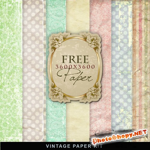 Textures - Vintage Easter Papers #2