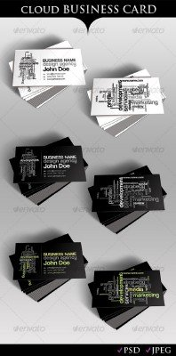 Cloud Business Card – GraphicRiver