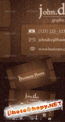 Wood Business Card - GraphicRiver