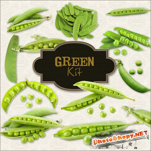 Scrap-kit - Green peas