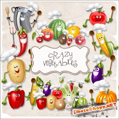 Scrap-kit - Crazy Vegetables