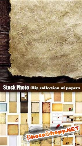 Stock Photo - Big collection of papers