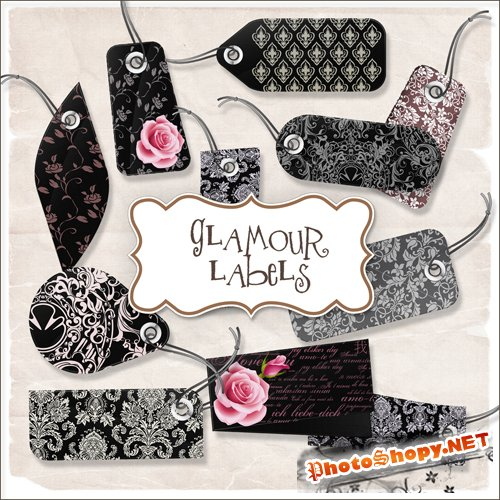 Scrap-kit - Glamour Labels #1