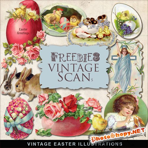 Scrap-kit - Vintage Easter Illustrations #9
