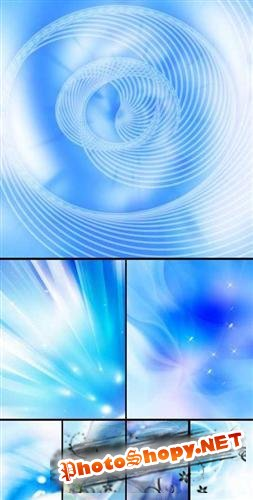 New Blue Abstract Backgrounds (Синие фоны)