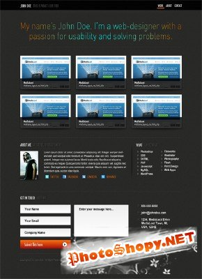 Single Page Portfolio Template - Medialoot