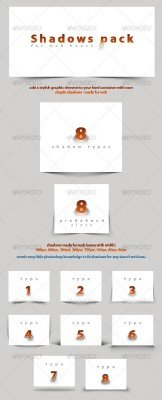 Shadows Pack for Web Boxes - GraphicRiver