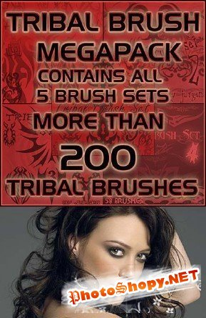 Tribal Brushes Megapack