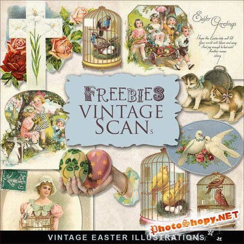 Scrap-kit - Vintage Easter Illustrations #11