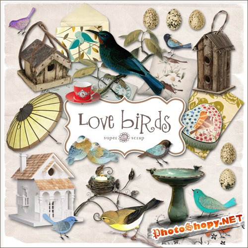 Scrap-kit - Love Birds