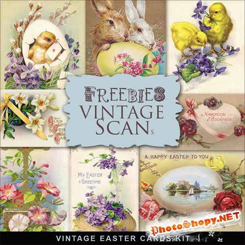 Scrap-kit - Vintage Easter Cards #3