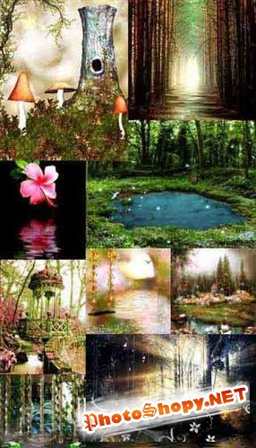 Various fairy backgrounds (��������� ��������� ����)