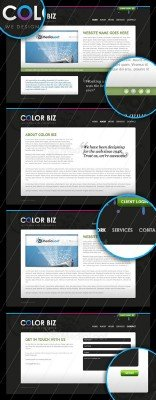 Color business website template - Medialoot