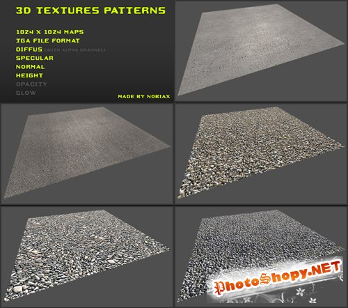 3d textures pack 09 by nobiax