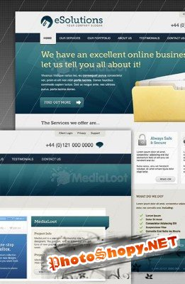 Business Corporate Website Template - Medialoot