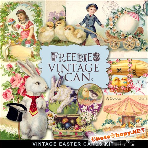 Scrap-kit - Vintage Easter Cards #5