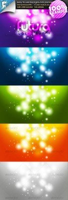 Futura Glow - Easy to use Backgrounds - GraphicRiver