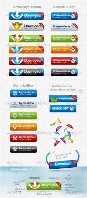 Delicious Download Button - GraphicRiver