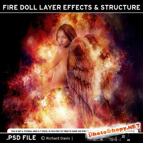Facing Fire Doll Structure - PSD Source