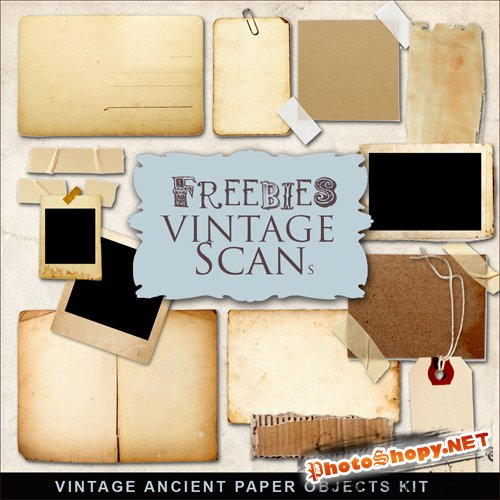 Scrap-kit - Vintage Ancient Paper Objects