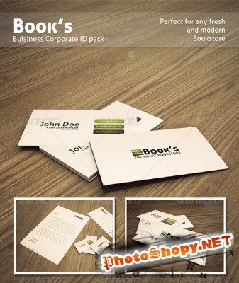 Bookstore corporate identity - GraphicRiver