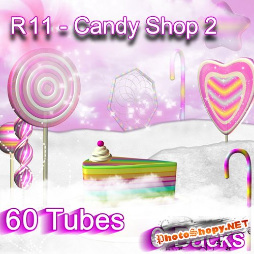 Scrap-set - R11 - Candy Shop 2