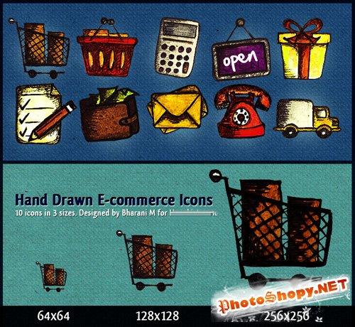 Hand Drawn E-Commerce Icons