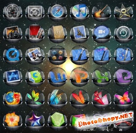 Super Glass Icons Pack