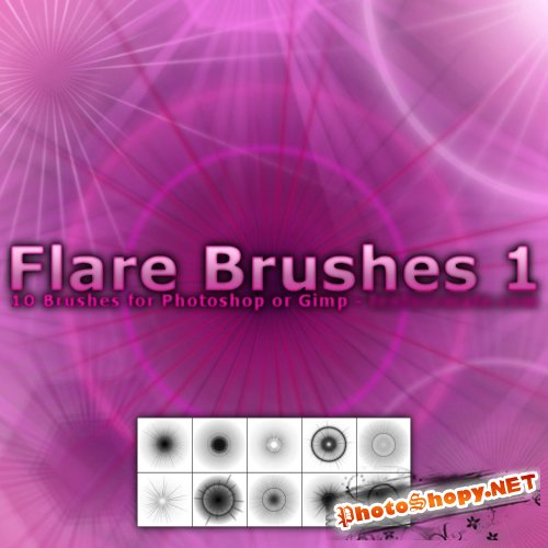 Flare 1 Brush Pack for Photoshop or Gimp