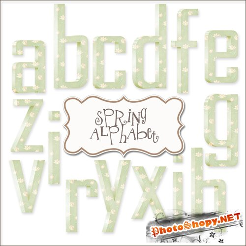 Scrap-kit - Green Spring Alphabet