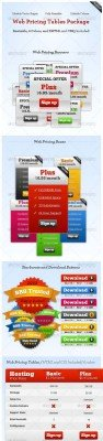 Web hosting and premium button pack - GraphicRiver