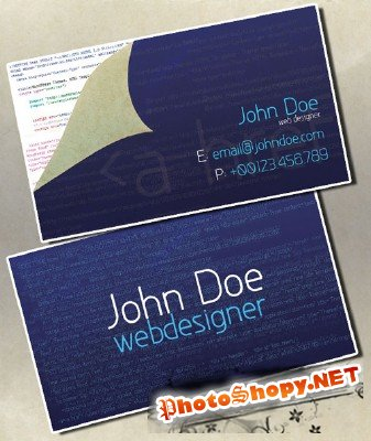 Business card for web designers - GraphicRiver