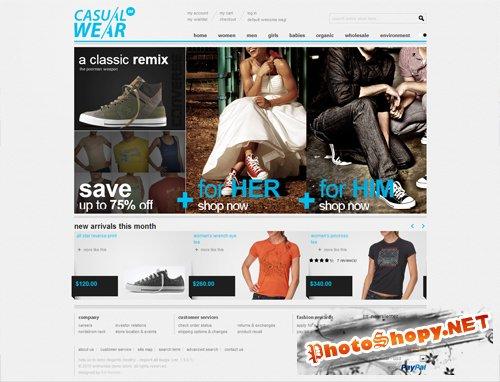 Casual Clothing - EMTheme Premium Magento Theme