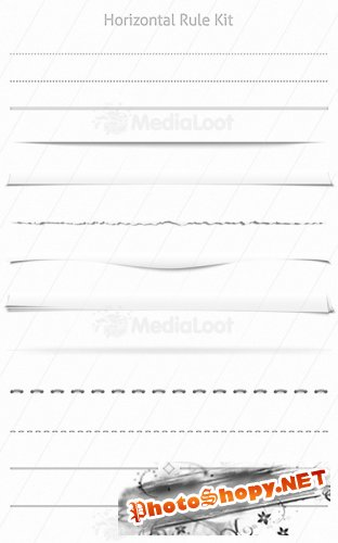MediaLoot Horizontal Rule & Page Shadow Kit RETAIL