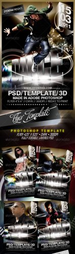 "Extreme 3D (Flyer Template 4x6"") - GraphicRiver"