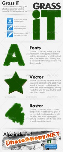 GraphicRiver Grass iT - Photoshop Action