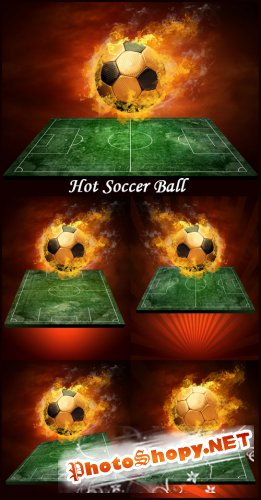 Hot Soccer Ball - Stock Photos